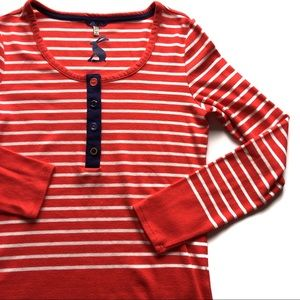 ❤️ Joules Striped Red Shirt With Buttons